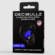 Decibullz - Custom Moulded Earplugs, 31dB Highest NRR, Comfortable Hearing Protection for Shooting, Travel, Swimming, Work and Concerts