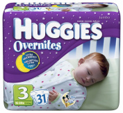 Huggies Overnites Nappies, Size 3, 31-Count Packages