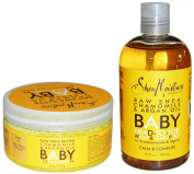 Shea Moisture Raw Shea Chamomile and Argan Oil Baby Head to Toe Wash & Shampoo and Baby Eczema Therapy