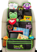 Extra Large Backseat Organiser with Kick Mat - Car Seat Protector, Maximum Pockets, Fits iPad, Detachable Pocket - Odourless, Durable, Top Quality, Machine Washable, Waterproof