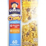 Quaker Chewy Variety Pack 60 Granola Bars (Peanut Butter and Chocolate Chip), 1500ml Thank you for using our service