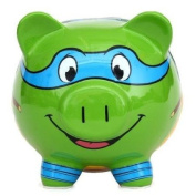 Teenage Mutant Ninja Turtles Leonardo Ceramic Piggy Bank, Leo Coin Bank, TMNT Coin Deposit