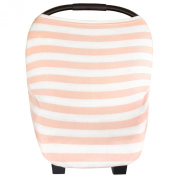 """Stretchy Multi-use Baby Car Seat Canopy, Nursing Cover, Shopping Cart Cover """"The Holland"""" 3-in-1 Unisex by Copper Pearl"""