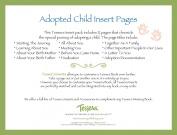 Tessera Baby Books Baby Memory Book Insert Pack, Adopted Baby