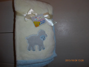 Embroideried Lamb Plush Baby Blanket