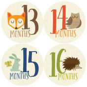 13-24 Months Baby Stickers, Woodland, Milestone Stickers