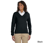 Women's Layered Look V-neck Sweater