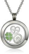 Charmed Lockets Irish Claddagh Charm Locket Necklace, 60cm