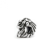 Novobeads Native American Chief Sterling Silver Charm Bead - Fits all major bead bracelets