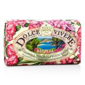 Dolce Vivere Fine Natural Soap - Sicilia - Bouganville, Marine Sea Salt & Papyrus Tree, 250g260ml