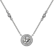 Lafonn Classic Round Necklace with Bezel Accents
