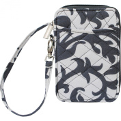 Damask Quilted Wristlet Wallet
