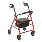 Drive Medical Rollator, Red