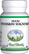 Maxi Health Potassium Magnesium - Energy Support - Heart & Muscle Formula - 90 Capsules - Kosher