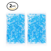 Gel Beads Hot & Cold Compress Pack - 2-Pack - Innovative Reusable gel bead technology provides instant heat or ice pain relief, rehabilitation and therapy. Includes 2 packs + 2 covers