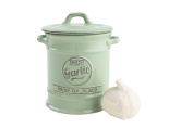 T & G Woodware Pride of Place Garlic Jar Cellar in Old Green - 18003