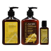Amir Argan Oil Shampoo and Conditioner 350ml Duo with Travel Moisturiser