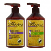 Savannah Hair Therapy Shea Butter Shampoo and Conditioner 500ml Duo Set