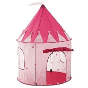 StepSafeUS® Girls Pink Princess Castle w Storage Case High Quality Play Tent for Toddlers and Kids; Strong and Durable, Lightweight and Portable • 100% Safe Playhouse for Children