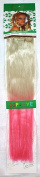 1st Lady® Fashion Omber 46cm Straight Dip-dye Colour Synthetic High Heat Fibre Full Head (8pcs) Clip in Hair Extensions (Bleach Blonde to Pink) #613/Light Pink 120g