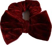 Aadya® Velvet Hair Scrunchies With Bow Elastic Scrunchy Hair Bobbles Scrunchy