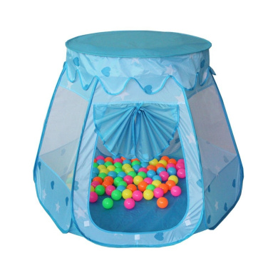 Santfe Children Play Tent Indoor and Outdoor Easy Folding Ball Pit Play House Baby Beach Tent with Tote Bag Ocean Ball Tent for Kids (Blue)