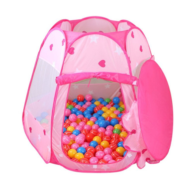 Santfe Children Play Tent Indoor and Outdoor Easy Folding Ball Pit Play House Baby Beach Tent with Tote Bag Ocean Ball Tent for Kids (Pink)