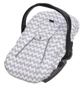 Jolly Jumper Sneak a Peek Sneak-a-Peek Infant Carseat Cover Deluxe Chevron