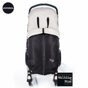 Walking mum-chancelière Universal Urban Baby - Black
