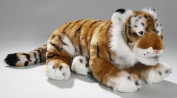 Soft Toy Tiger brown lying, 44cm. [Toy]