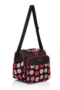 Mengma Large capacity floral pattern multifunctional waterproof nappy bag Mothers shoulder bag coffee