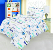 Love2Sleep COT BED DUVET COVER WITH PILLOWCASE- SUPERIOR NATURAL COTTON RICH 120 X 150 CM - KISS ME