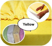Jersey 100% Cotton Fitted Sheet Suits Cot 120x60 cm - YELLOW