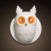 European White Antler Owl Mirror Front Wall Sconce Modern Contract Kid's Bedroom Wall Lamp Cartoon Animal Corridor Wall Lighting Fixtures