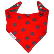 Blade and Rose Red and Black Dribble Bib