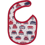 Reversible Organic Cotton Car Print Baby Bib