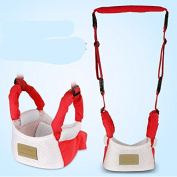 Anti-lost Baby toddler with dual Leashes,red