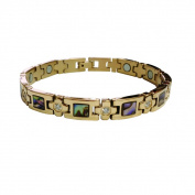 Stainless Steel/ Mother of Pearl Magnetic Bracelet