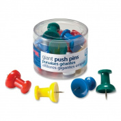 OIC Assorted Giant Push Pins - 1 Pack