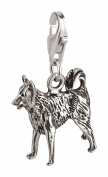Charm Pendant Dog Border Collie 2 Sterling Silver 925