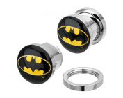 DC Comics Batman Bat Signal Single Flare Steel Plugs 2G-1.3cm