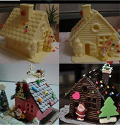 JETTINGBUY Christmas House Cake Mould-Baking Tool