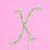 4,5cm Diamante Cake Letter X