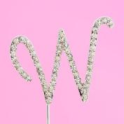 4,5cm Diamante Cake Letter W