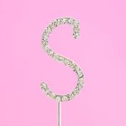 4,5cm Diamante Cake Letter S