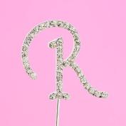 4,5cm Diamante Cake Letter R