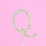 4,5cm Diamante Cake Letter Q