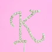 4,5cm Diamante Cake Letter K
