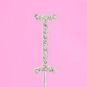 4,5cm Diamante Cake Letter I
