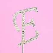 4,5cm Diamante Cake Letter E